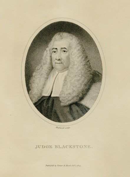 Detail of Judge Blackstone by English School