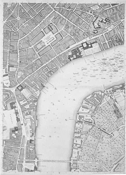 Detail of A Map of Covent Garden and Westminster, London by John Rocque