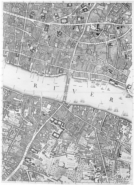 Map London Bridge.A Map Of Old London Bridge London