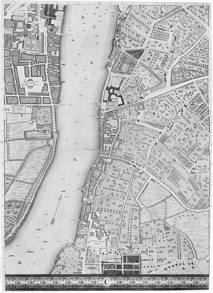 Detail of A Map of Lambeth and Vauxhall, London by John Rocque