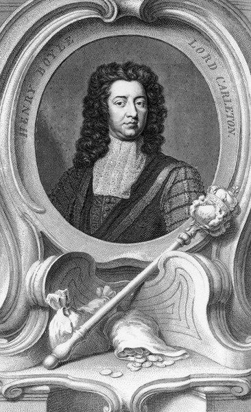 Detail of Henry Boyle, Lord Carleton engraved by Jacobus Houbraken by Sir Godfrey Kneller