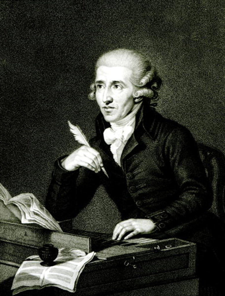 Detail of Joseph Haydn by Ludwig Guttenbrunn