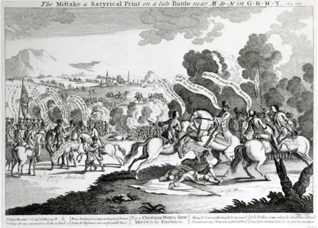 Detail of Battle of Minden by English School