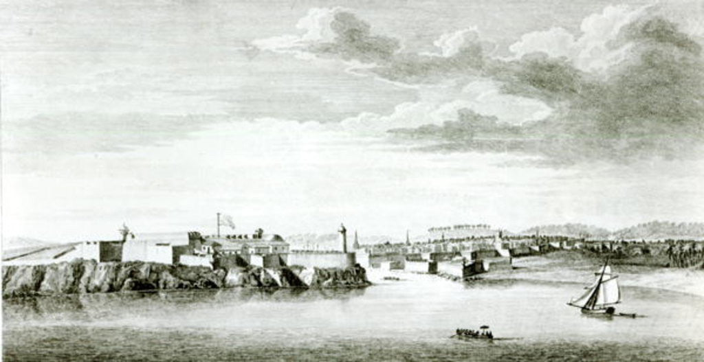 Detail of A Prospect of the Moro Castle and City of Havana from the sea by English School