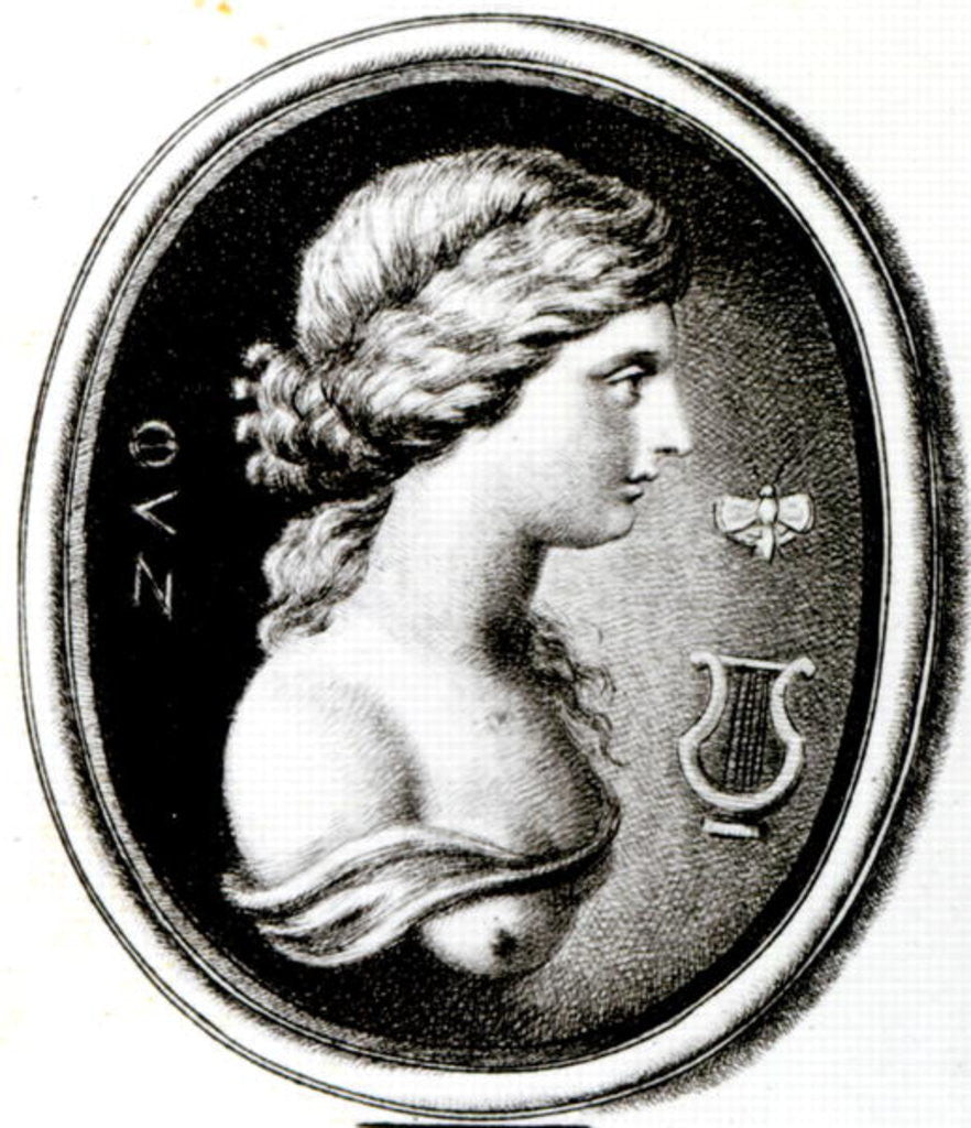 Detail of Portrait of Sappho by Thomas Worlidge
