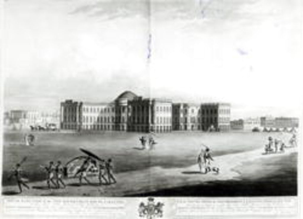 Detail of South East View of the New Government House, Calcutta by James Moffat