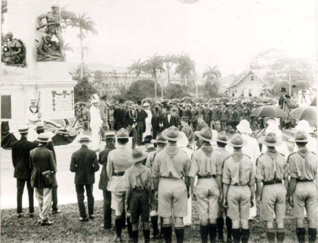 Unveiling of War Memorial, Port of Spain, Trinidad by English Photographer