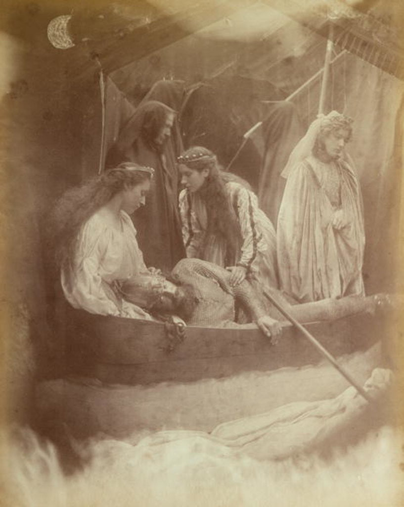 Detail of The Passing of King Arthur by Julia Margaret Cameron