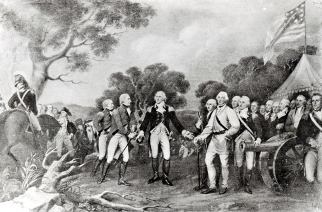 The Surrender of General Burgoyne Saratoga, New York by American School