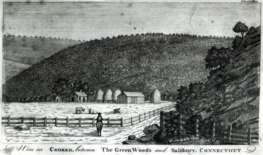 Detail of A Farm in Canaan, Connecticut by American School