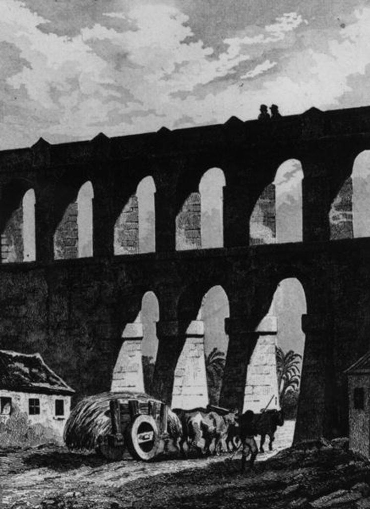 Detail of Aqueduct at Rio by French School