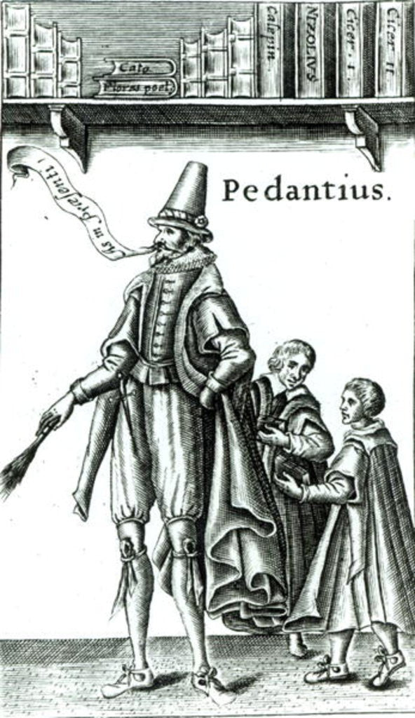 Detail of Frontispiece of 'Pedantius', comedy by Edward Forsett produced in Cambridge in 1581 by English School