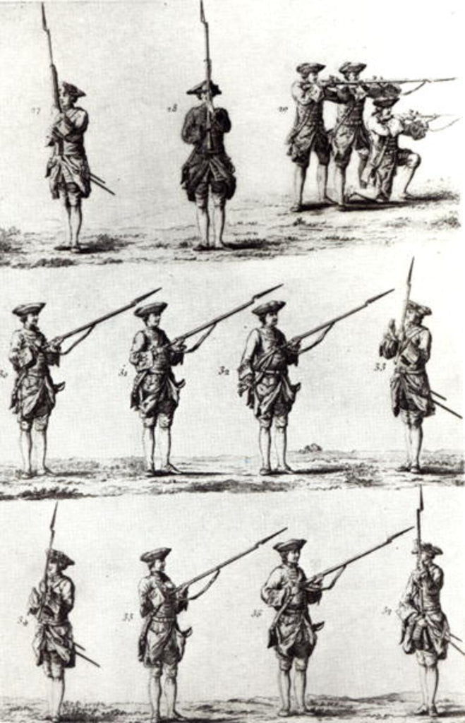 Detail of Soldiers with bayonets by German School