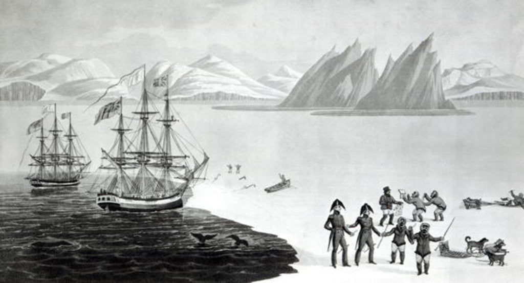 Detail of First communication with the natives of Prince Regents Bay by English School