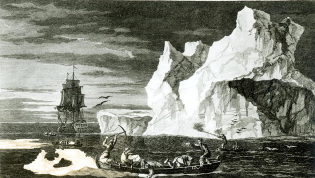 Detail of The Ice Islands on the 9th January 1773 by William Hodges