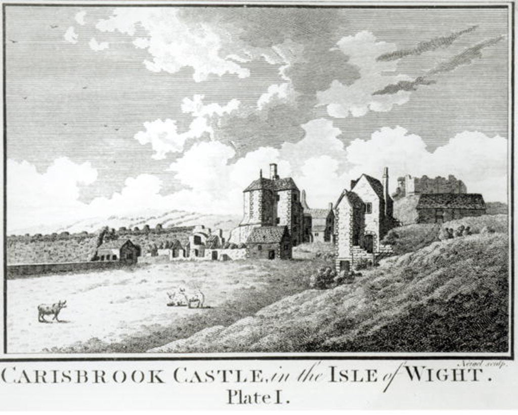 Detail of Carisbrook Castle, Isle of Wight, Plate I by English School