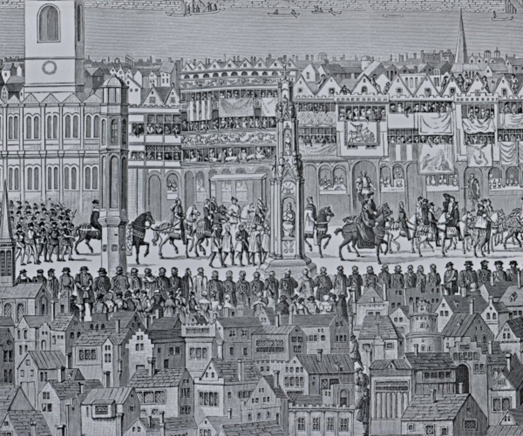 Detail of Part of the Coronation Procession of Edward VI by English School