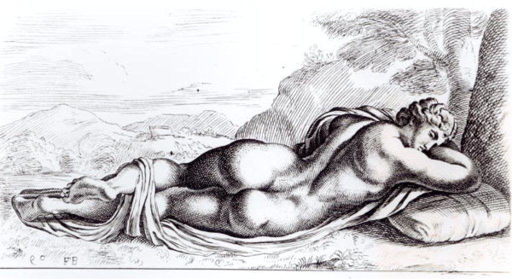 Detail of Hermaphrodite in the Borghese Gardens by Francois Perrier