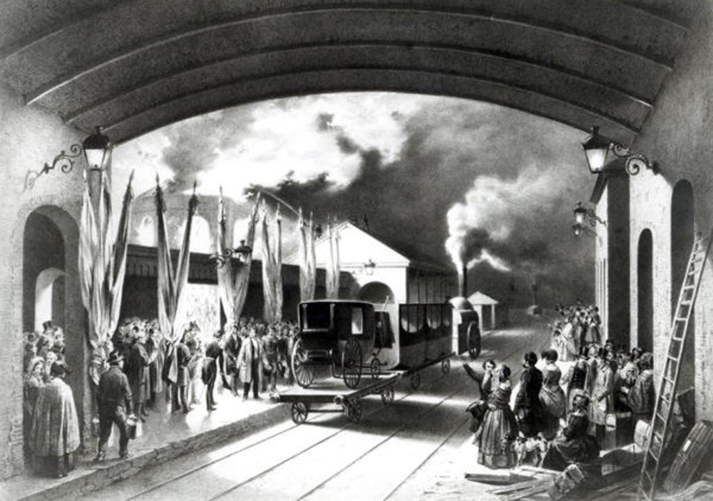 King Louis-Philippe of France departing from New Cross station, Deptford by Edouard Pingret
