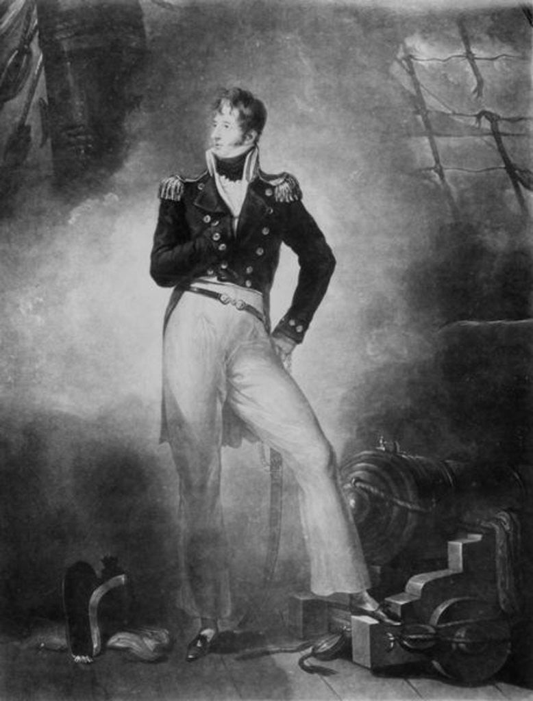 Detail of Admiral Thomas Cochrane, 10th Earl of Dundonald by Peter Eduard Stroehling