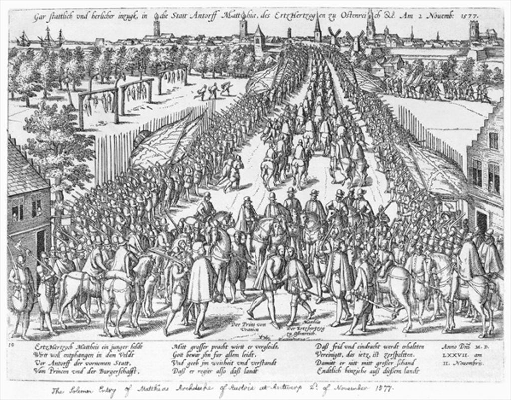 The Solemn entry of Matthias Archduke of Austria at Antwerp