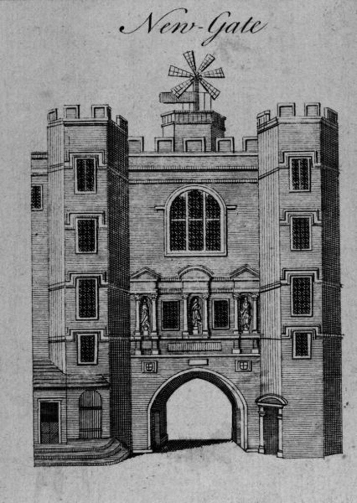 Detail of View of Newgate by English School