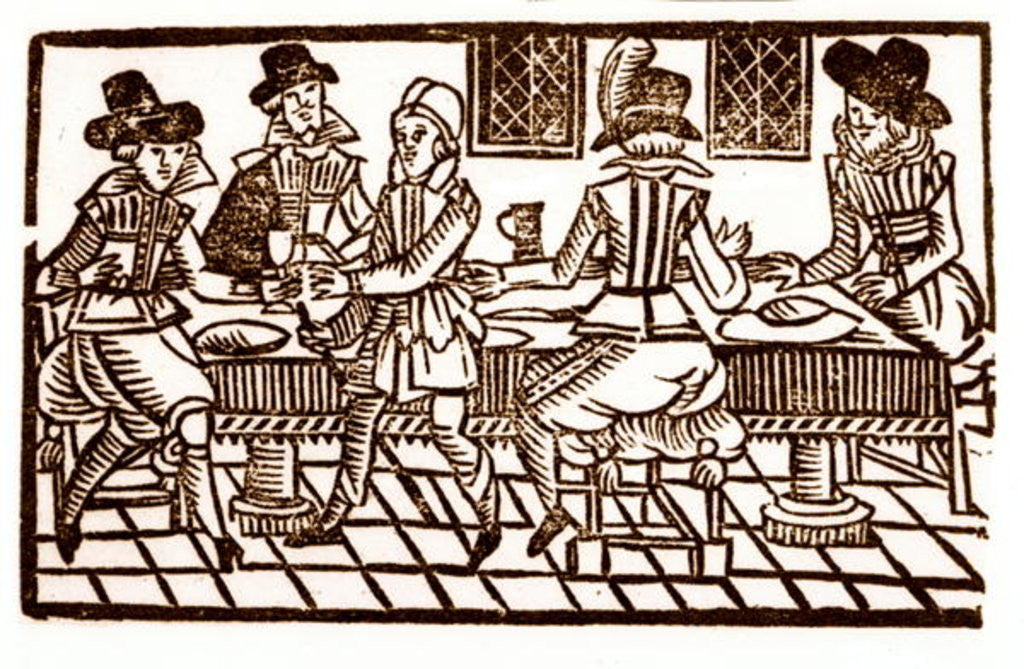 Detail of A Meal at the Inn by English School
