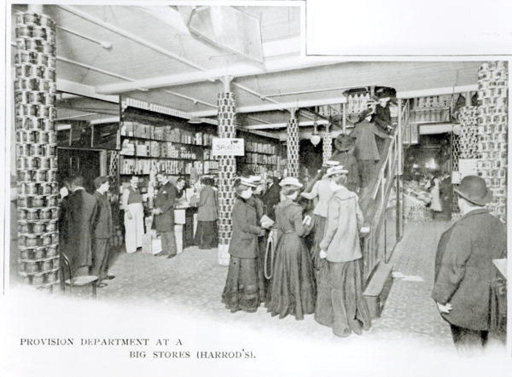Detail of Harrods Provision Department by English Photographer