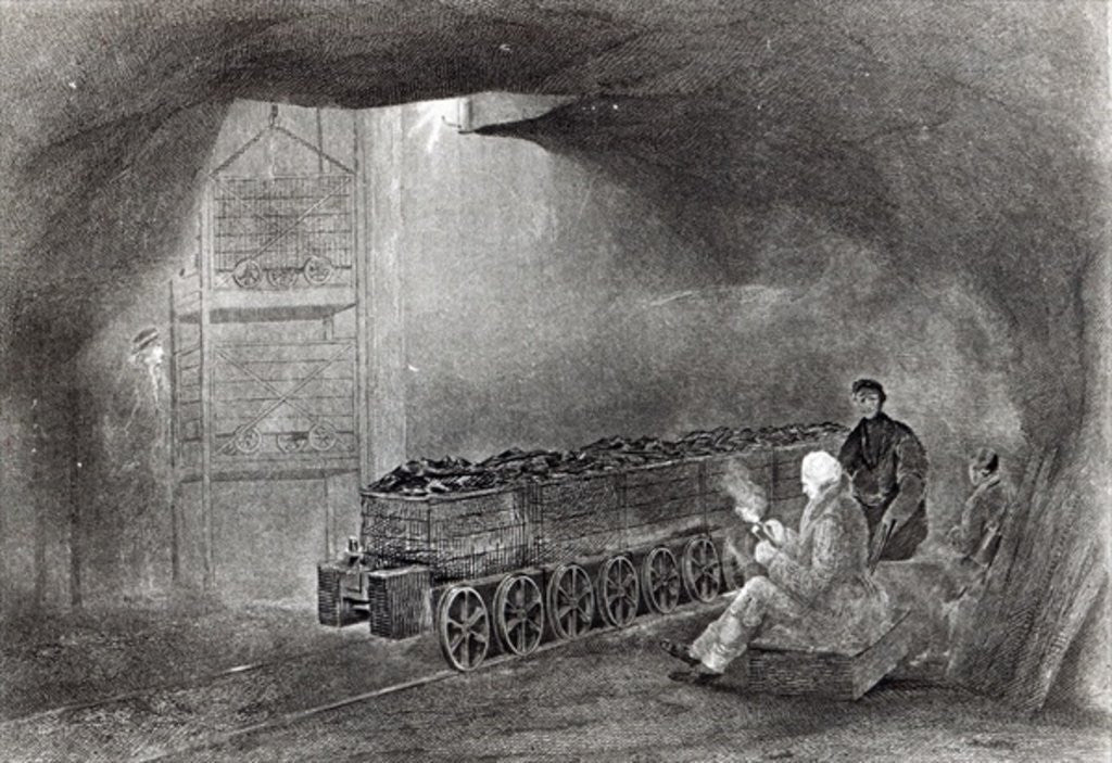 Detail of In the Coal Mine by English School