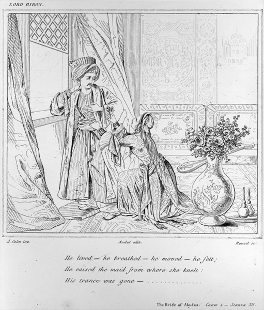Scene from The Bride of Abydos by Lord Byron by Alexandre Colin