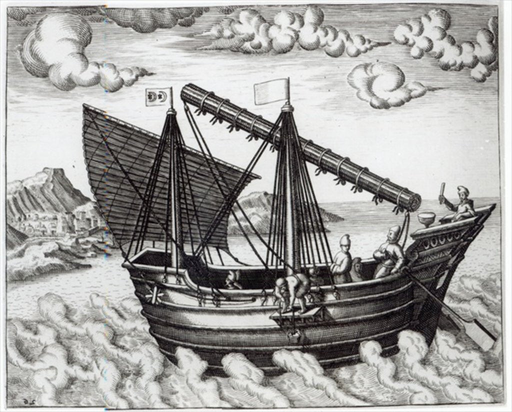 Detail of A Chinese Junk by Johannes Baptista van