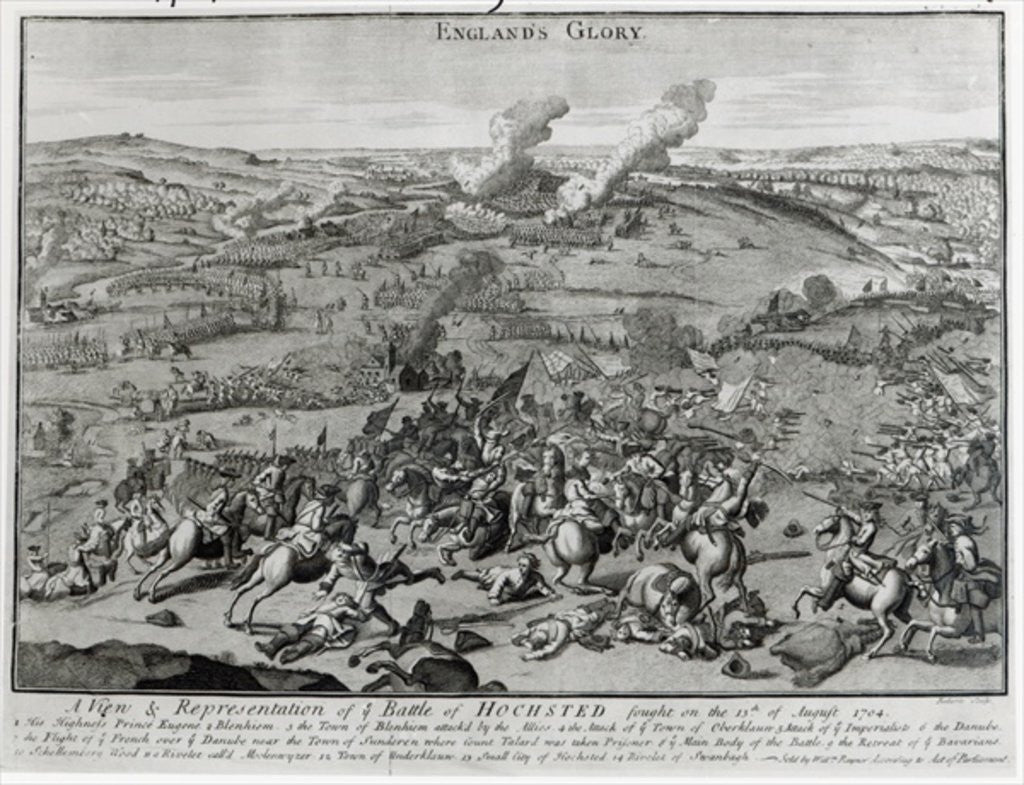 Detail of A View and Representation of the Battle of Hochsted by English School