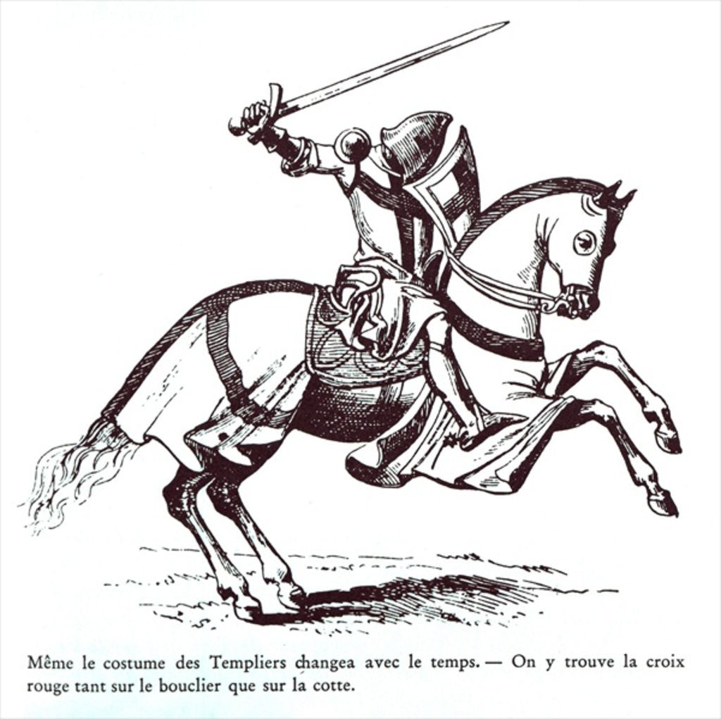 Detail of Illustration of a Knight Templar by French School