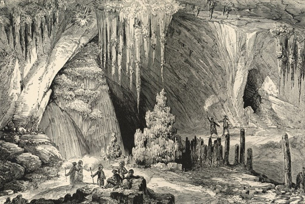 Detail of Interior of the Grotto of Antiparos by English School