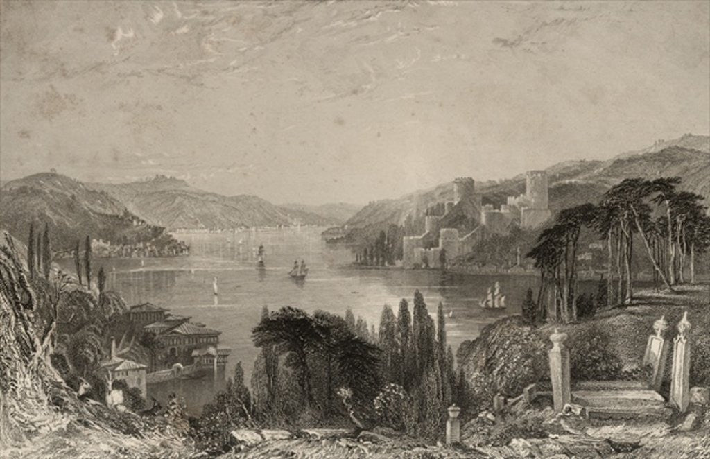 Detail of Boumeli Hissar, or the Castle of Europe by Thomas Allom