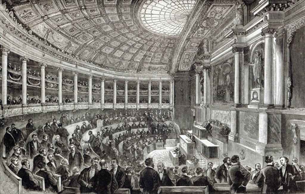 Detail of The Chamber of Deputies, Paris by English School