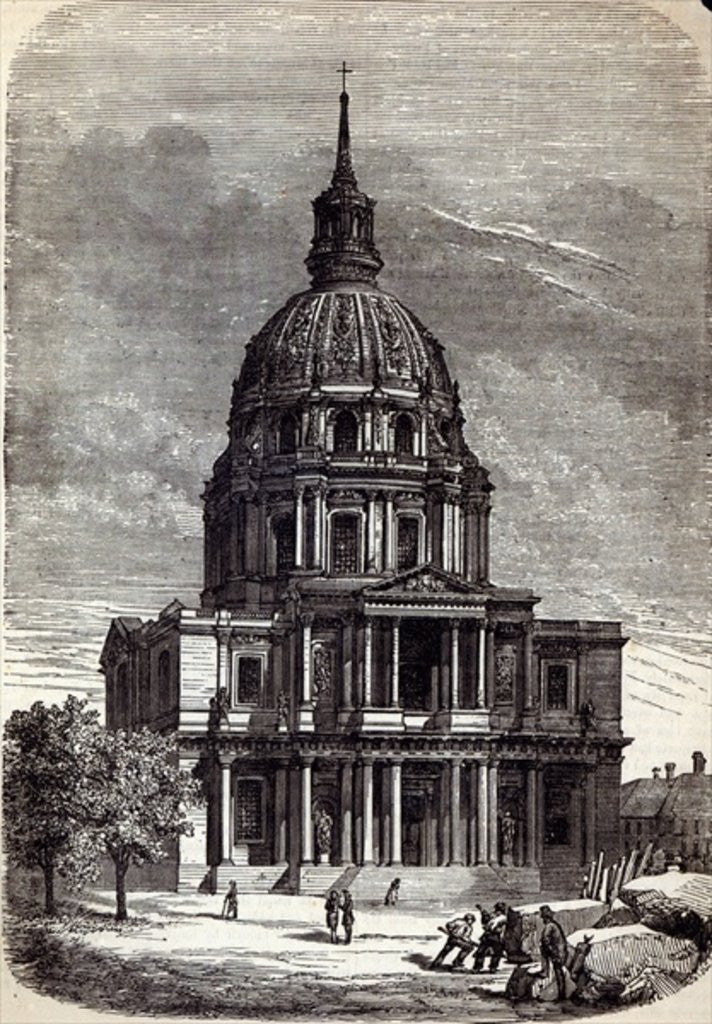 Detail of Church of the Invalides, containing the Tomb of Napoleon, Paris by English School