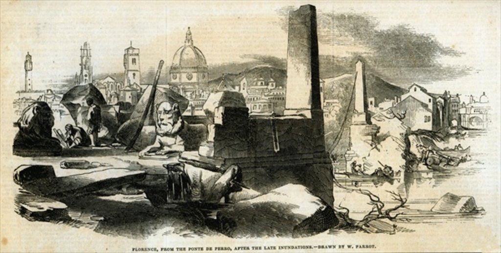 Detail of Florence by from 'The Illustrated London News'