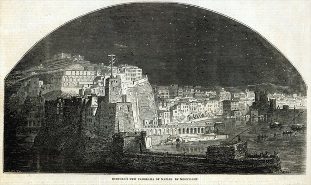 Detail of Burford's New Panorama of Naples by Moonlight by English School