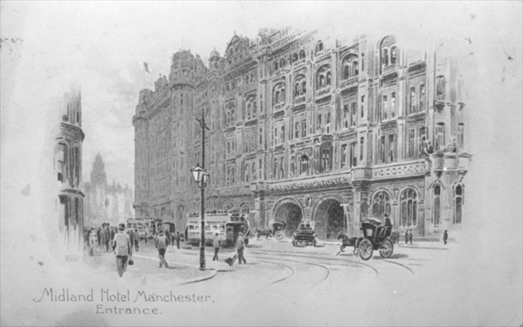 Detail of The Midland Hotel, Manchester by English School