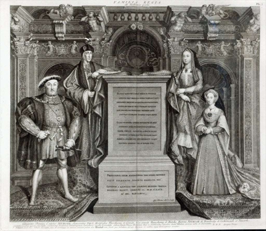 Detail of Familia Regia, or The Family of Henry VIII by George Vertue