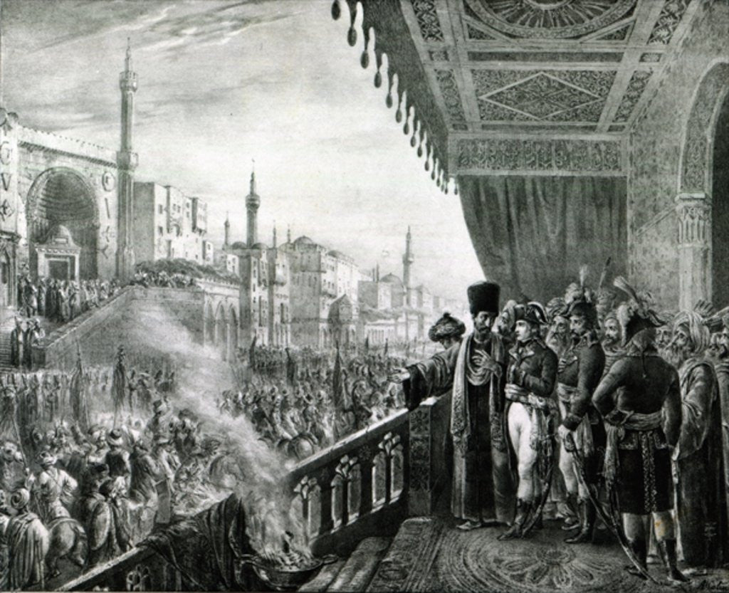 Detail of Napoleon Bonaparte Celebrating the Birthday of the Prophet Mohammed in Cairo, during his Egyptian Campaign by Alexandre Colin