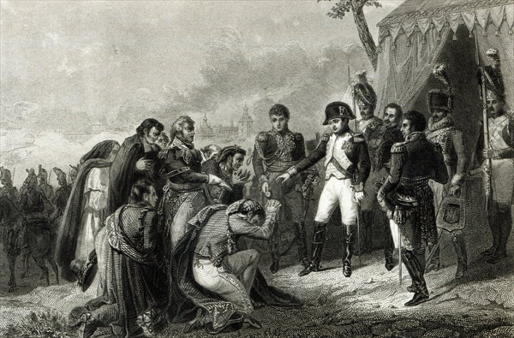 Detail of The Defeated Spanish prostrate before Napoleon before his entry into Madrid by Antoine Charles Horace Vernet