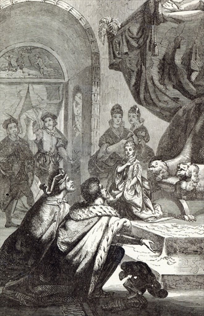 Betrothal of the French Princess to Richard II by English School