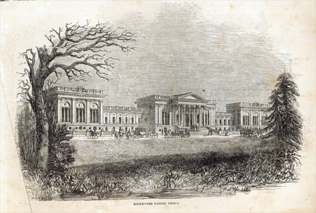 Detail of Stowe - the Garden Front by English School