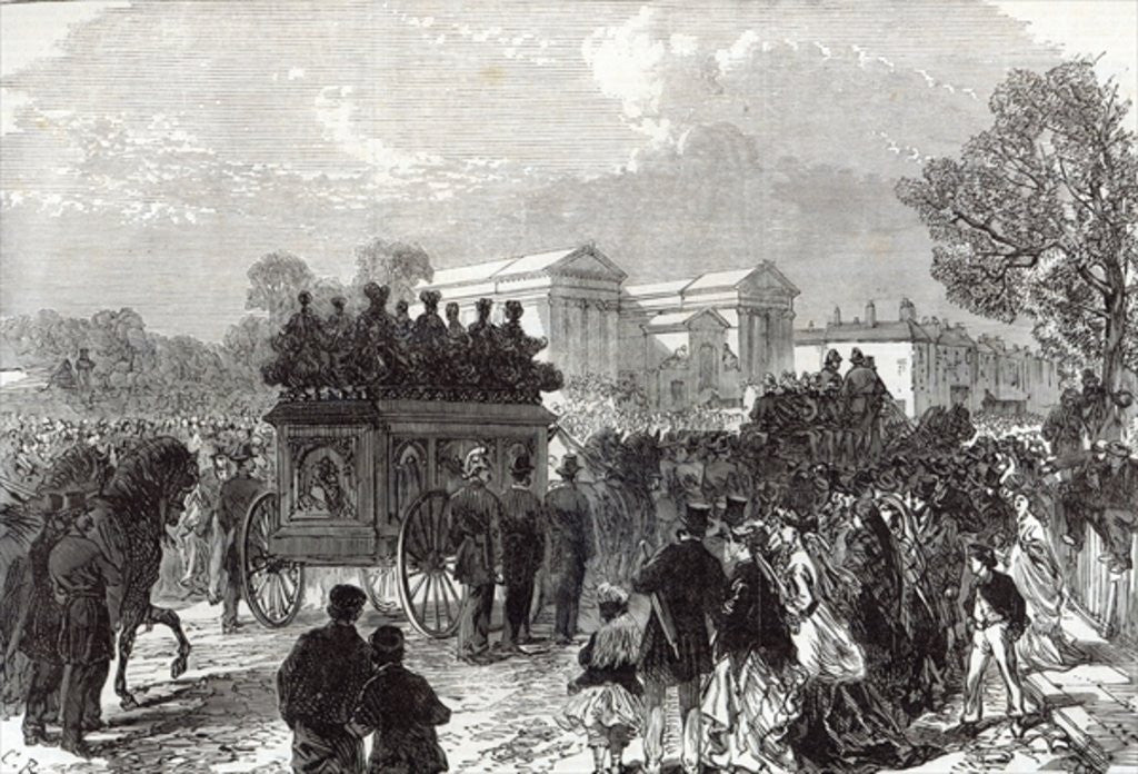 Detail of Funeral of Sergeant Brett, the Police Officer killed by the Fenians at Manchester by English School