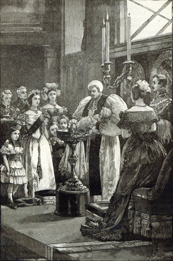 Detail of Christening of the Princess Louise in Buckingham Palace Chapel by English School