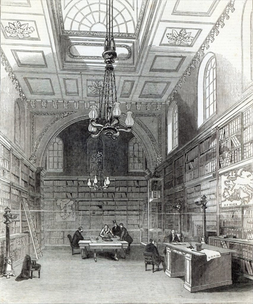 Detail of Library of the House of Lords by English School