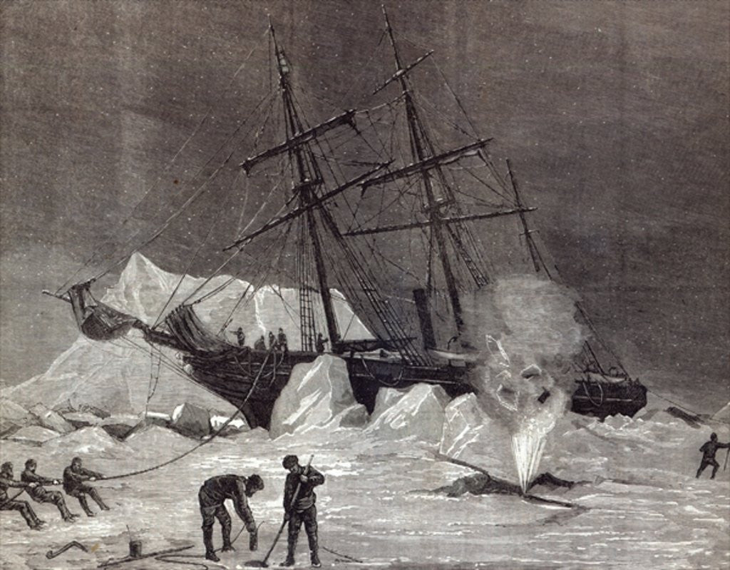 Detail of 'Pandora' nipped in the ice, Melville Bay 24th July by English School