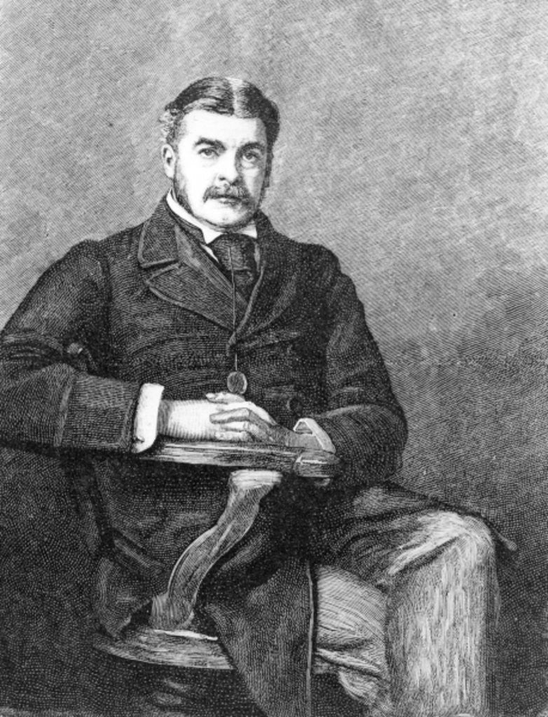Detail of Sir Arthur Sullivan, engraved by C. Carter by Sir John Everett Millais